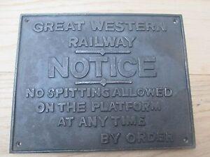 12 Vintage Alt Englisch Gusseisen Zug Toilette Zeichen Notiz
