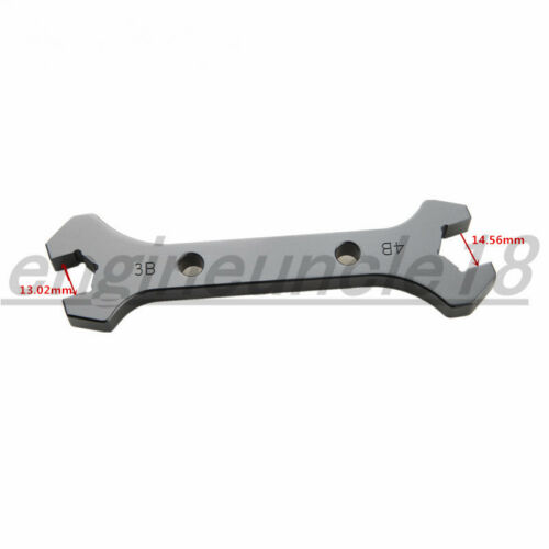 AN3 AN4 AN6 AN8 AN10 AN12 AN16 Aluminum Double Open Ended Wrench Spanner Tool