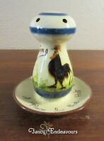 Torquay Babbacombe Pottery Mottoware Rooster Hat Pin Holder