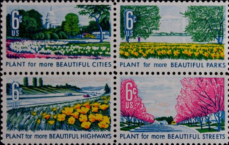 1969 6c Beautiful Cities, Parks, Highways & Streets Sco