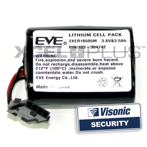 Visonic Sirene Batterie Doppelpack MCS-740 Powermax Glocke Kiste