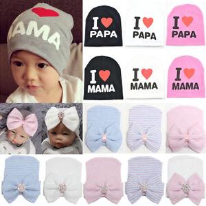 11b7346f1c0150 Image is loading Infant-Girls-Boys-Newborn-Baby-Beanie-Hats-Stretchy-