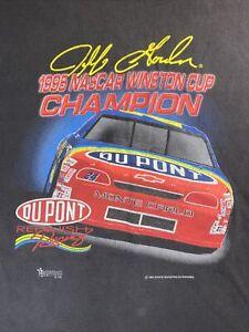 Vintage-NASCAR-1995-Jeff-Gordon-Winston-Cup-T-Shirt-MEDIUM-Black-Motorsport-USA