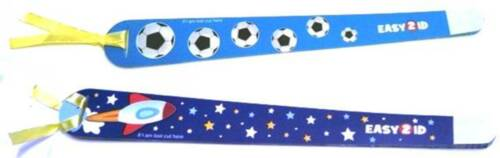 Childrens ID Safety Wristbands Pack of 10 Ideal for Holidays Skiing School Trips
