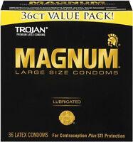 Trojan Magnum Large Condoms - 36 Pack
