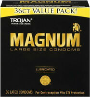 Trojan Magnum Large Condoms - 36 Pack