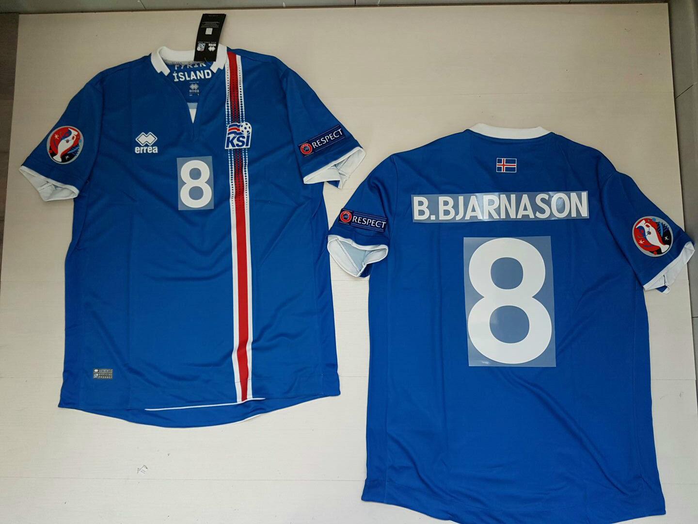 B. BJARNASON ISLANDE ISLANDE Ísland T-SHIRT JERSEY HAUT ÉCUSSON