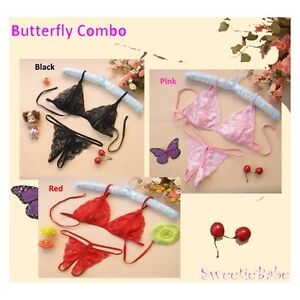 3pcs-set-Sweetiebabe-S110301-Lace-Open-Crotch-T-Back-Bikini-Lingerie-Set-Combo