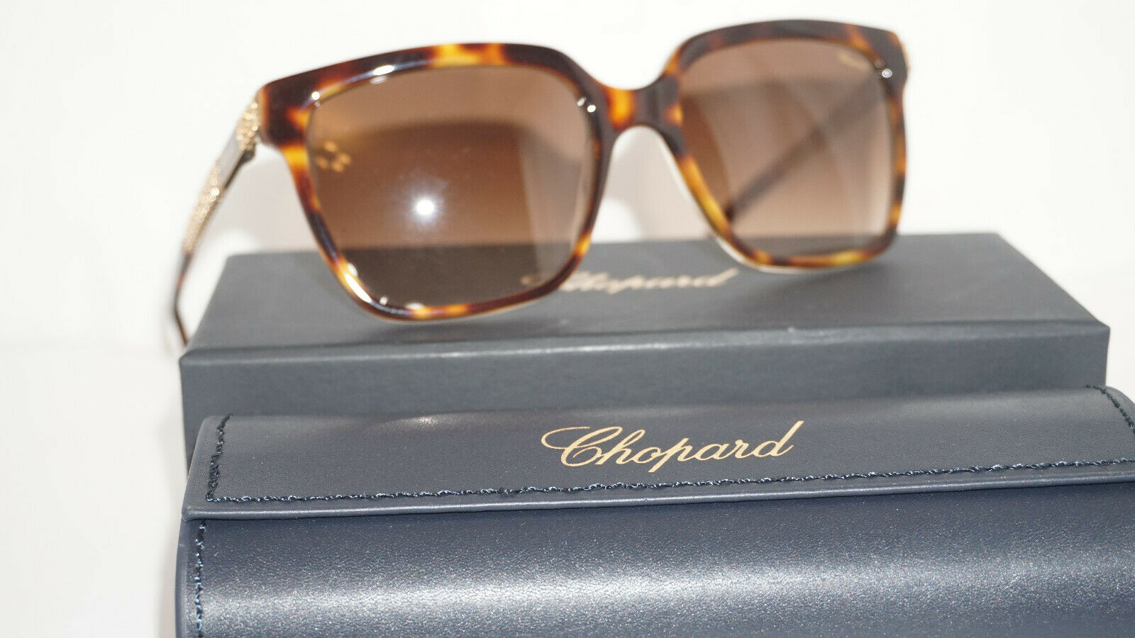 Chopard Sunglasses New Havana Gold Brown SCH208S 091Z 56 18 130