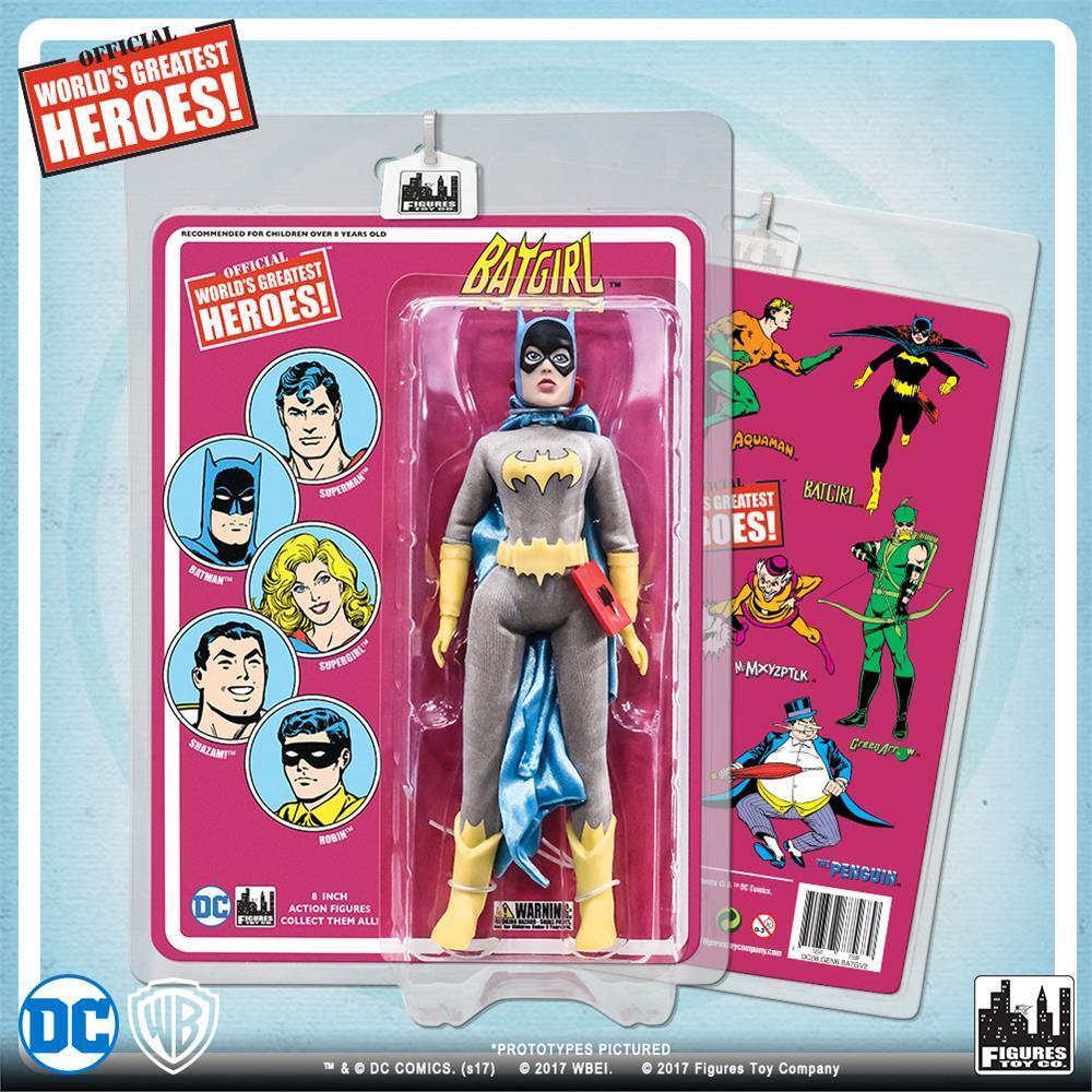 Dc comics retro - batgirl mit retro - karte 8  action - figur mip neue versiegelt