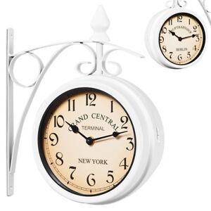 Wanduhr Bahnhofsuhr Küchenuhr 17 cm Uhr Quarz Retro Look Vintage Antik Weiß