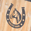 M HORSE SHOE WITH HORSE/'S NAME Horsebox Trailer Vinyl Stickers Decals Graphics