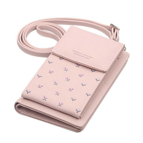 Women PU Leather Mobile Phone Bag Pouch Crossbody Purse Card Wallet Shoulder Bag