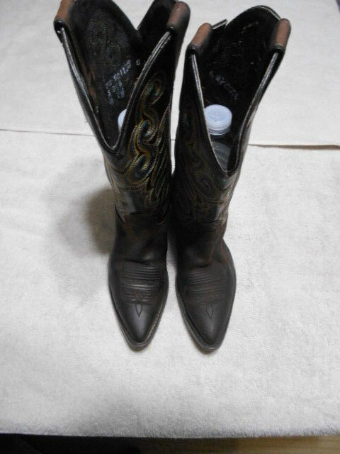 WOMENS Oiled Brown HH DOUBLE H Boots STYLE 5211 Size 6 M