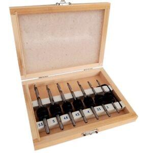 7 punte da trapano per svasatore svasatura legno svasare fori Art.511071