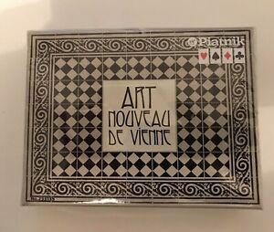 Piatnik Cartes à Jouer Art Nouveau De Vienne Twin Pack Coffret Bridge Poker Neuf-afficher Le Titre D'origine
