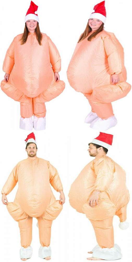 Christmas Thanksgiving Turkey Inflatable Costume for Adults (One Size)