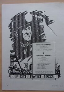 Page-Of-Advertising-Collieries-of-The-Bassin-De-Lorraine-IN-1962-Ref-54538