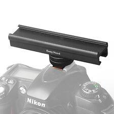 "Mircophone LED 4"" Hot Shoe Cold Shoe Extension Rail Bar for Canon Nikon Camera"