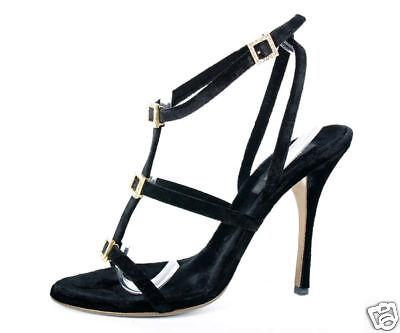 630 ROBERTO CAVALLI en velours noir chaussures 40.5 - 10.5
