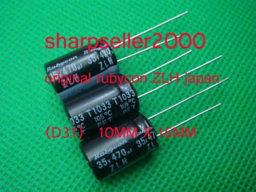 200pcs JAPAN Rubycon ZLH 470uF 35v 105c Radial Electrolytic Capacitor Low ESR