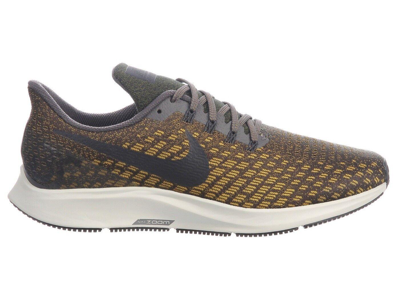 Nike Air Zoom Pegasus 35 Mens 942851-007 Grey Citron Mesh Running shoes Size 10