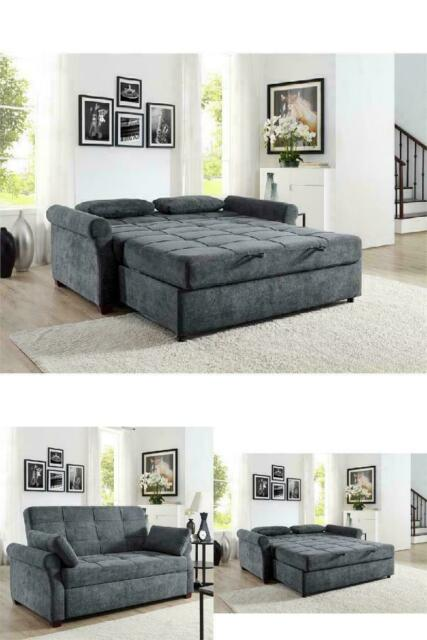 Pull Out Sleeper Futon Sofa Bed Lounger