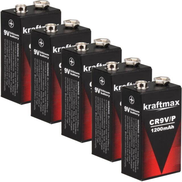 6x HEITECH 9V Alkaline Longlife Rauchmelder Batterien 9Volt E-Block
