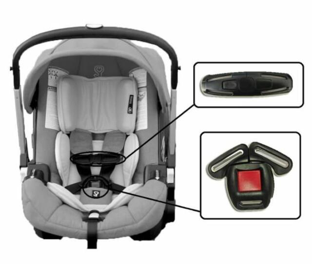 for Britax Safety Universal Baby Chest Harness Clip Car Seat Safety Buckle Part in Black