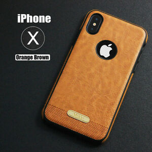 online store d9860 7cfa5 Details about SLIM Luxury Leather Back Ultra Thin TPU Case Cover for iPhone  X