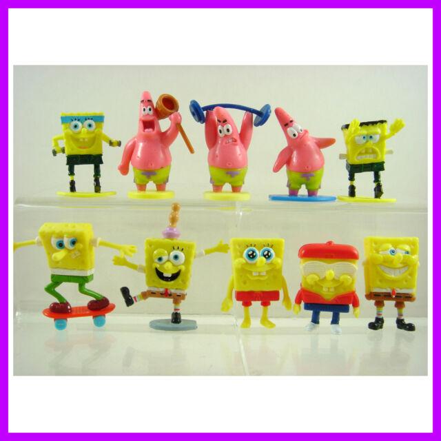 10 pcs SpongeBob SquarePants Patrick Bob & His Friends PVC Figures SET + CHARM