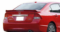 Painted Rear Wing Spoiler For A Honda Civic 4-door Si Factory 2006-2011