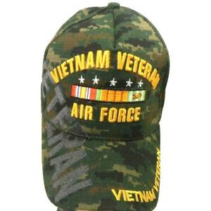 Details about US Air Force Vietnam Veteran Hat Green Camo Adjustable Cap