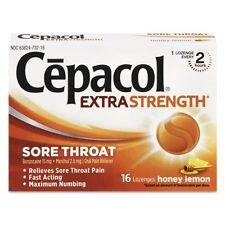 2 Pack Cepacol Extra Strength Sore Throat Honey Lemon 16 Lozenges Each