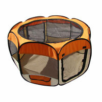 New Small Orange Pet Dog Cat Tent Playpen Exercise Play Pen Soft Crate