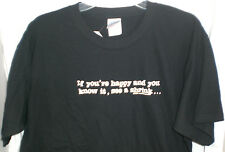PSYCHOLOGY IF YOU'RE HAPPY AND YOU KNOW IT SEE A SHRINK T SHIRT LARGE NEW W/TAG