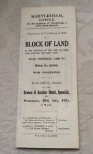 Sale Particulars Block Of Land, Martlesham, Suffolk