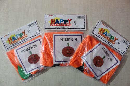 3x aufblasbarer Kürbis *HAPPY PUMPKIN* Pool Party Fest Dekoration Halloween 40cm