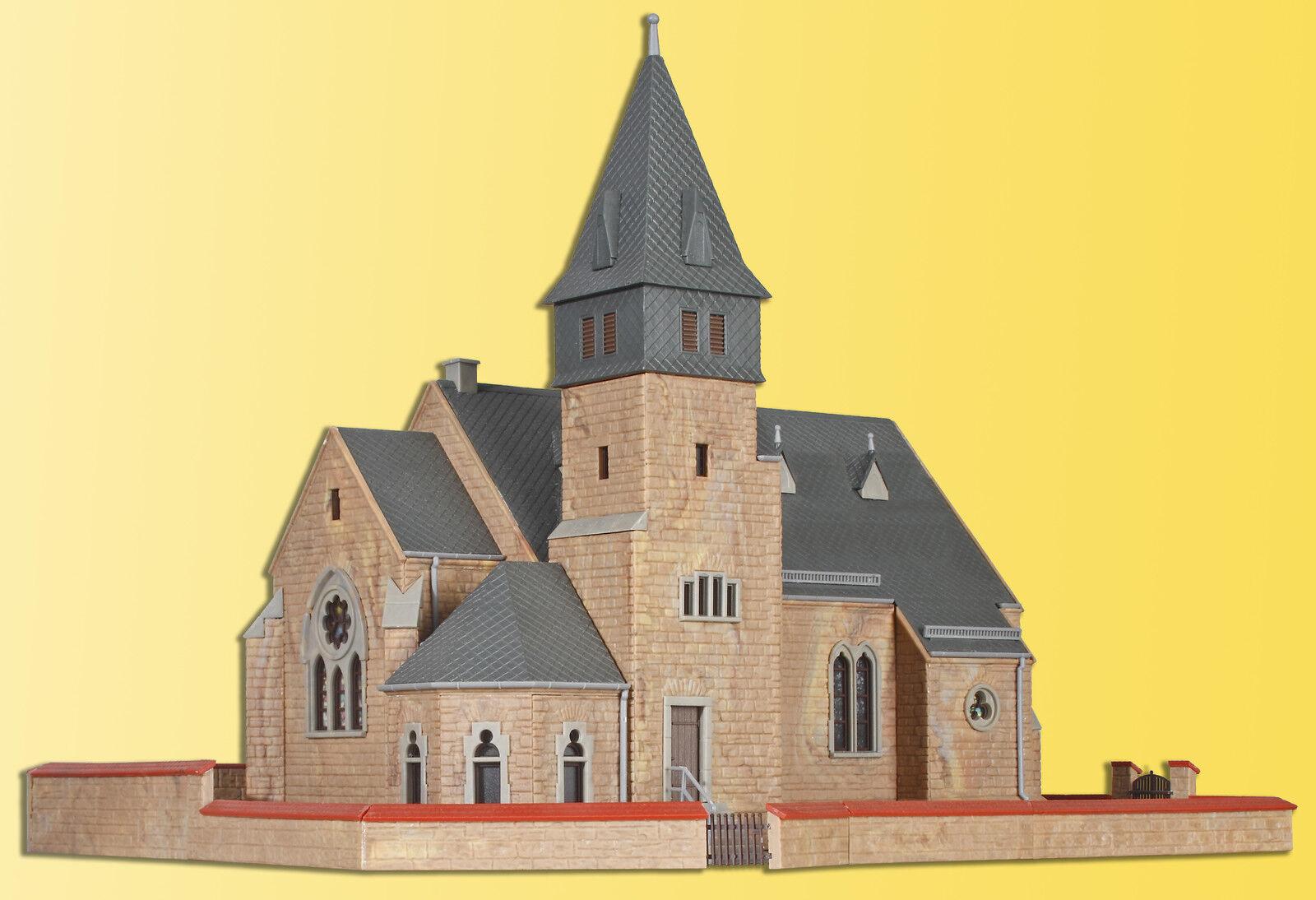 Kibri 39766 spur h0 - kirche aus dem westerwald mit mauer   neu in ovp