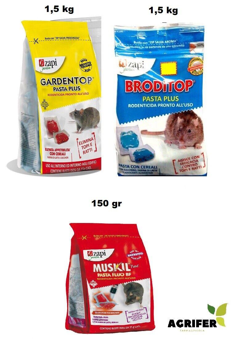 Zapi gift mäuse pasta köder frisch beutel 150 gr und 1,5 kg