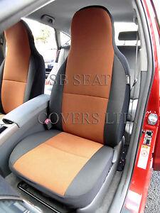 To Fit A Subaru Xv Car Seat Covers Tan Suede Ebay