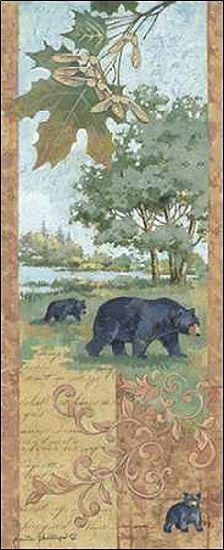 Anita Phillips  Homeward Bound Keilrahmen-Bild Leinwand Bären Wald Waldtiere