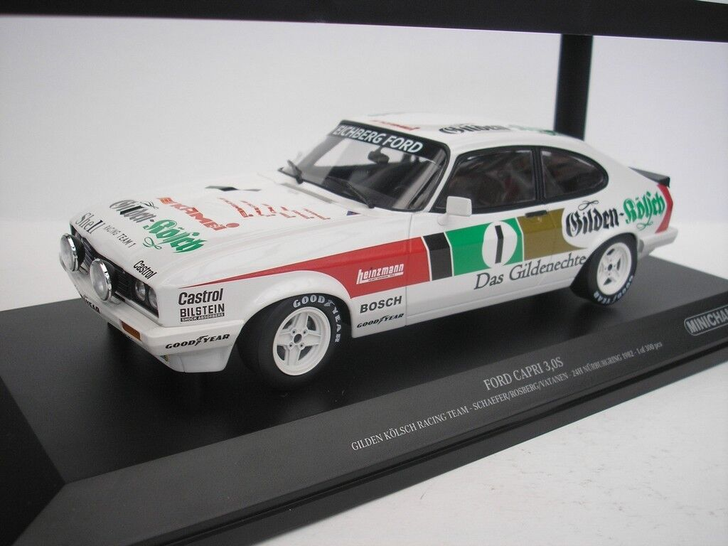 FORD Capri 3.0 S #1 24h NURBURGRING 1982 Schaefer 1/18 Minichamps 155828601 NUOVO