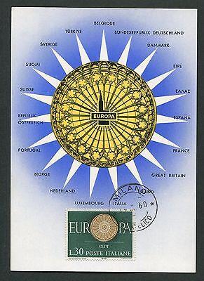 Besorgt Italien Mk 1960 Europa Cept Maximumkarte Carte Maximum Card Mc Cm D3437 Zur Verbesserung Der Durchblutung