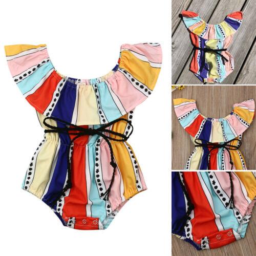Newborn Kid Baby Girl Princess Romper Color Bodysuit Jumpsuit Sunsuit Outfits