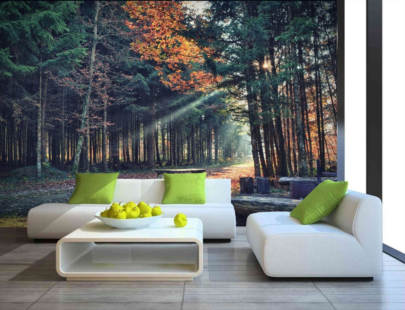Tree Leaves Plants Forest Autumn Photo Wallpaper Mural Home Poster Decoration b