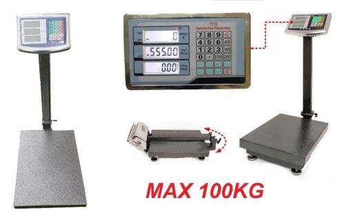 Bilico bascula pedana peso pesa acciaio Bilancia pesapacchi digitale max 100kg