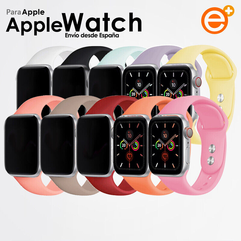 iwatch: Correa Silicona Apple Watch para iWatch Series 1/2/3/4/5/6 38-40mm/42-44mm