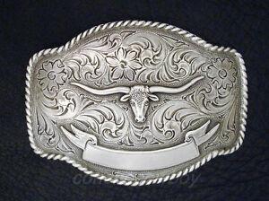 size 38 Brown Color Laredo Longhorn Steer Berry Concho Western Genuine Leather Cowboy Belt