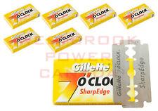 30 DOUBLE EDGE GILLETTE 7'O CLOCK YELLOW SHARP EDGE DISPOSABLE SHAVING BLADES